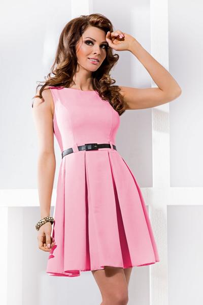 77ba10890aab Μίνι Φόρεμα Ζωνάκι Ροζ – WearStardust